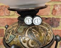 Superb Doulton Lambeth Oil Lamp by Mark V Marshall, 1881 (3 of 18)