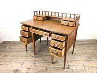 Edwardian Antique Oak Kneehole Desk (8 of 13)