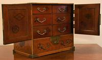 Excellent 19th Century Japanese Elm Jewellery Box/ Table Cabinet. (2 of 15)