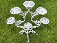 Victorian 19th Century Garden Cast Iron Painted White 6 Branch Plant Stand (24 of 47)
