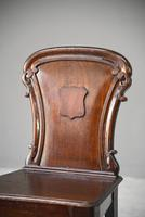 Antique Mahogany Hall Chair (3 of 11)