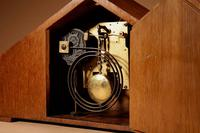 Very Stylish Typical Art Deco Amsterdam School Oak & Macassar Ebony / Coromandel Mantel Clock (4 of 8)