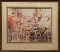"""Market  Scene"" Watercolour by M.Campbell"