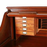 English Mahogany Roll Top Desk (5 of 9)