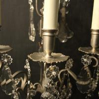 French Pair of Silver Gilded Wall Sconces (5 of 10)