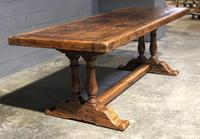 Wonderful French Chestnut Farmhouse Refectory Dining Table (31 of 37)