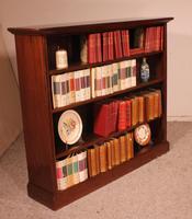 Mahogany Open Bookcase - England c.1900 (10 of 11)