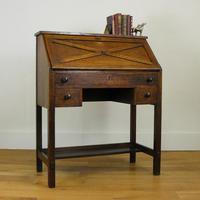Delightful Arts & Crafts Oak Bureau (18 of 19)