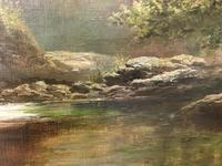 George Henry Jenkins 'A Devon River Landscape' Oil on Canvas Painting (10 of 12)
