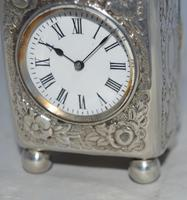 Victorian 1894 Silver Carriage Clock (3 of 5)
