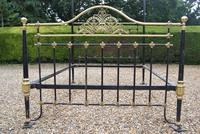 Antique King Size 5ft Half Tester Bedstead by R W Winfield. Bed Restored in your Colour (2 of 19)