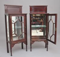 Pair of Early 20th Century Mahogany Display Cabinets (7 of 9)