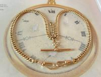 Pocket Watch Chain 1930s 12ct Rose Rolled Gold Double Albert With T Bar (3 of 12)