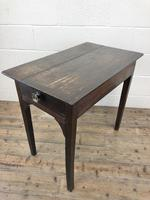 Antique Georgian Oak Side Table with Drawer (10 of 13)