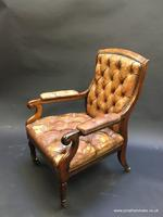 19th Century Rosewood Library Chair (7 of 10)