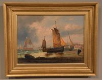 """Oil Painting Pair by George Dodgson Callow """"A Calm, Mounts Bay"""" and """"On the South Coast"""" (6 of 9)"""