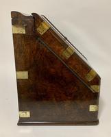 Victorian Burr Walnut Brass Bound Desktop Stationery Cabinet (13 of 15)