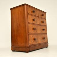 Antique Victorian Burr Walnut Chest of Drawers (3 of 9)