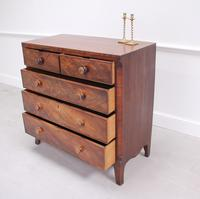19th Century Flame Mahogany Chest of Drawers (7 of 10)