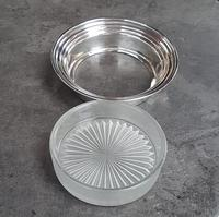 Sterling Silver & Frosted Glass Butter Dish (4 of 4)