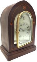 Antique German Quarter Chiming Mantel Clock (6 of 11)