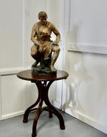 Large 1920s Plaster Figure of the Seated Blacksmith, Le Travail (2 of 12)