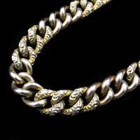 Antique Heart Padlock Fancy Curb 9ct 9K Gold Bracelet (5 of 9)