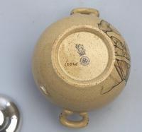 Attractive & Good Royal Doulton Stoneware Motto Ware Lidded Bowl - Tea c.1915 (6 of 8)