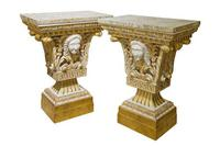 Pair of William Kent Style Marble Topped Small Pier Tables (2 of 7)