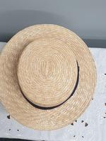 Borsalino Straw Boater Hat (5 of 8)