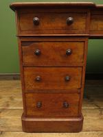 Antique Satin Birch Pedestal Desk by Heal & Sons (12 of 21)