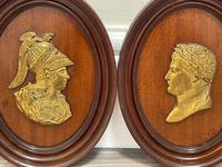 Pair of Interesting 19th Century Gilded Bronze Alexander The Great & Napoleon Cameo Plaques (8 of 29)