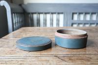Swedish 'Folk Art' original blue painted wooden storage box / jar 19th Century (5 of 15)