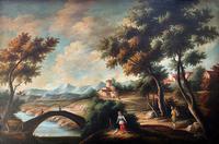 Substantial! Original Italian Landscape Oil by Follower of 17th Century Gaspard Dughet (6 of 15)
