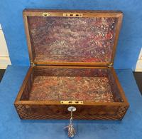 Victorian Inlaid Parquetry Rosewood Box (11 of 12)