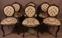 Fantastic Set of 6 Victorian Walnut Dining Chairs (14 of 14)