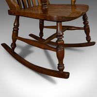 Antique Farmhouse Rocking Chair, English, Elm, Beech, Seat, Victorian c.1900 (9 of 12)