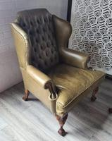 Pair of Leather Wing Chairs (8 of 10)