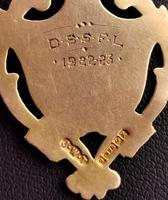 Vintage Art Deco 9ct Gold Shield Fob (9 of 9)