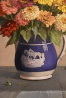 """Oil Painting by John Ernest Foster """"Summer Blooms"""" (2 of 7)"""