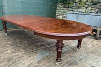 Super Quality Victorian Mahogany Extending Dining Table Seats 14 (11 of 18)