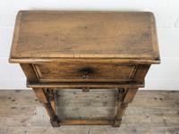 Vintage Oak Side Table with Drawer (9 of 11)