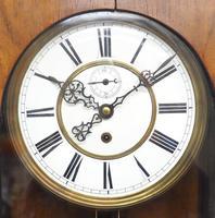 Antique Rocket Cased Single Weight Walnut 8-Day Vienna Regulator Wall Clock (3 of 14)