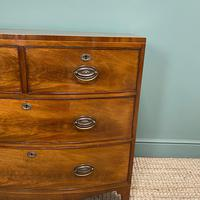 Small Bow Fronted Regency Antique Chest of Drawers (6 of 6)