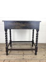 Antique Oak Side Table with Drawer (10 of 10)