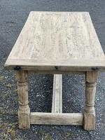 Rustic Bleached Oak French Farmhouse Dining Table (16 of 34)