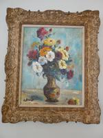 1930s Oil Painting Vase of Flowers (7 of 7)