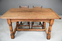 Country Antique Style Oak Refectory Kitchen  Dining Table (4 of 12)