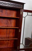 Secretaire Bureau Bookcase Astragal Glazed Mahogany Library Cabinet Edwardian (12 of 14)