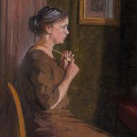 Robert Panitsch, Interior Scene with Pensive Woman (10 of 10)